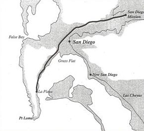 La Playa Trail historic commercial trail in San Diego, California, USA