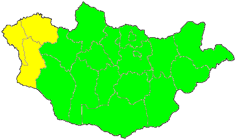 Time Zone Map of Mongolia