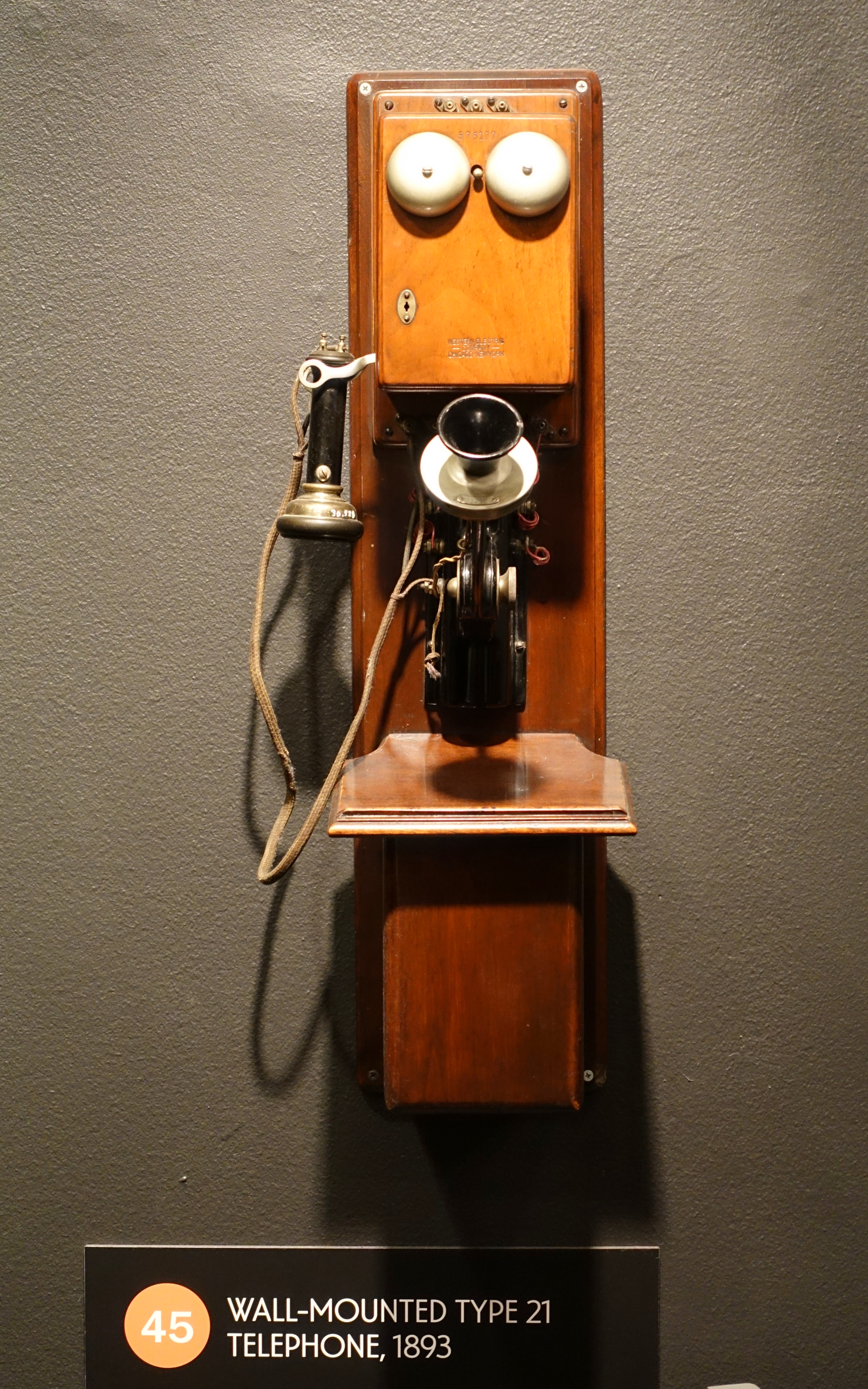 Chart Holder Wall Mount: Wall-mounted Type 21 telephone 1893 Western Electric ,Chart