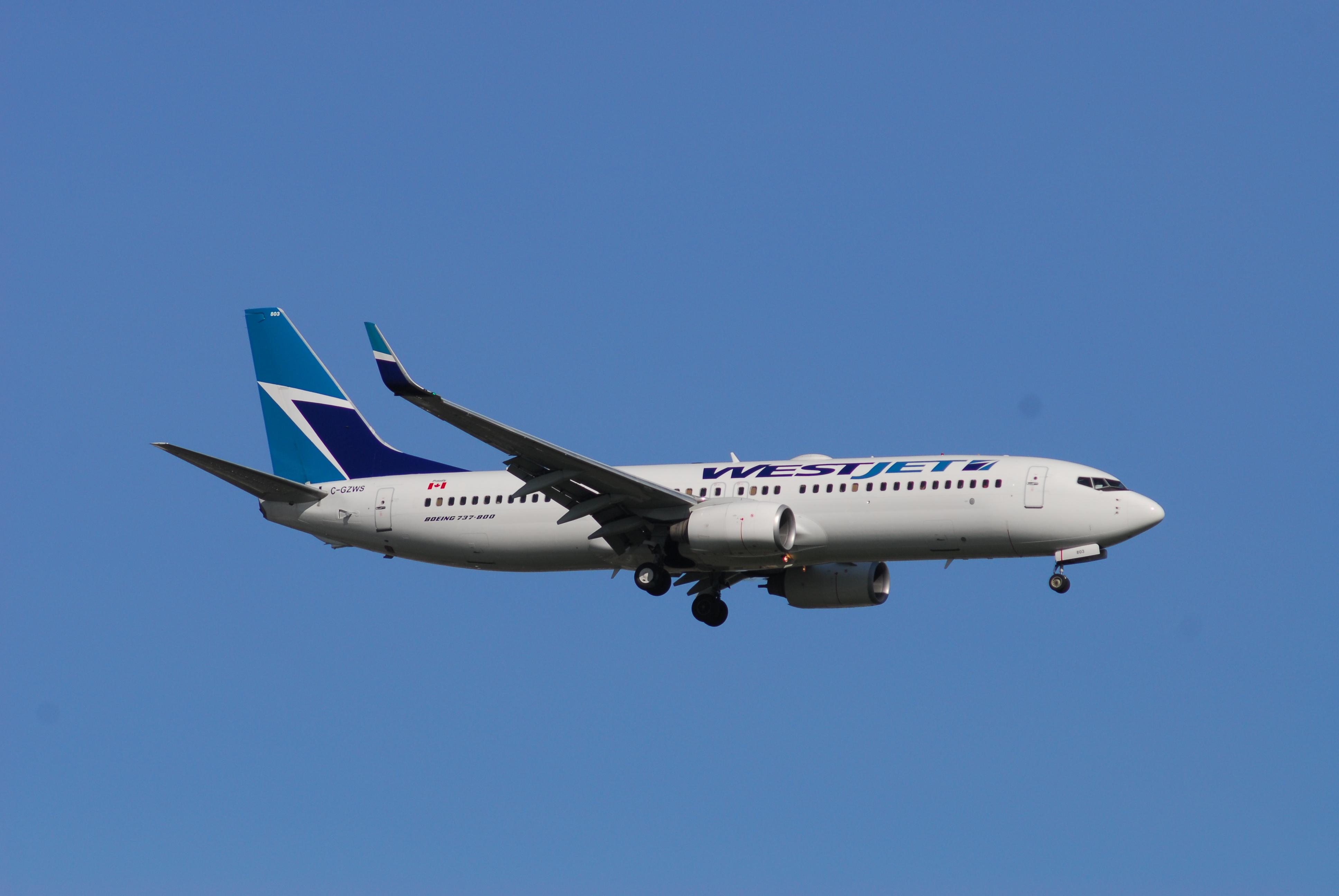 File:WestJet Boeing 737-8CT - C-GZWS - 803 - Flight WS1233