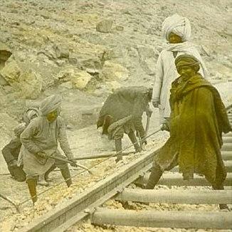 Järnvägsarbete.