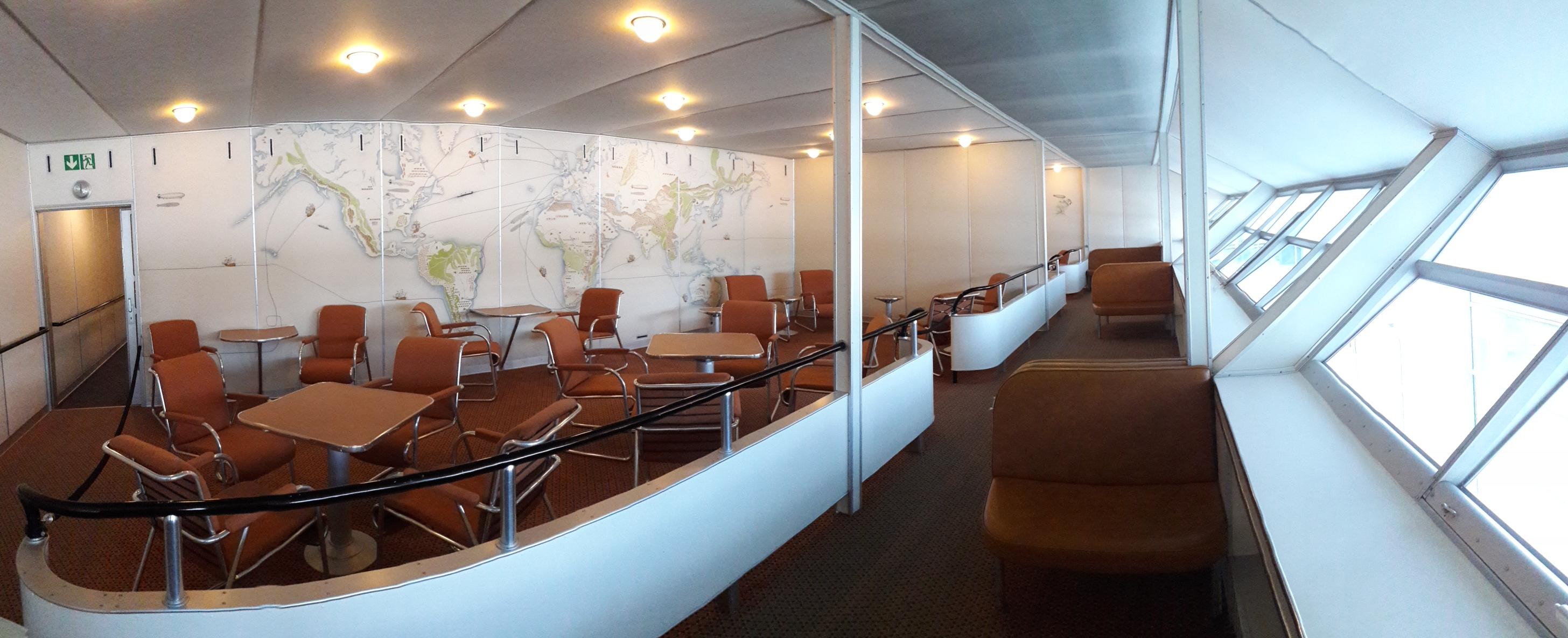 Цеппелин «Гинденбург». Пространство для отдыха и для аэрообзора