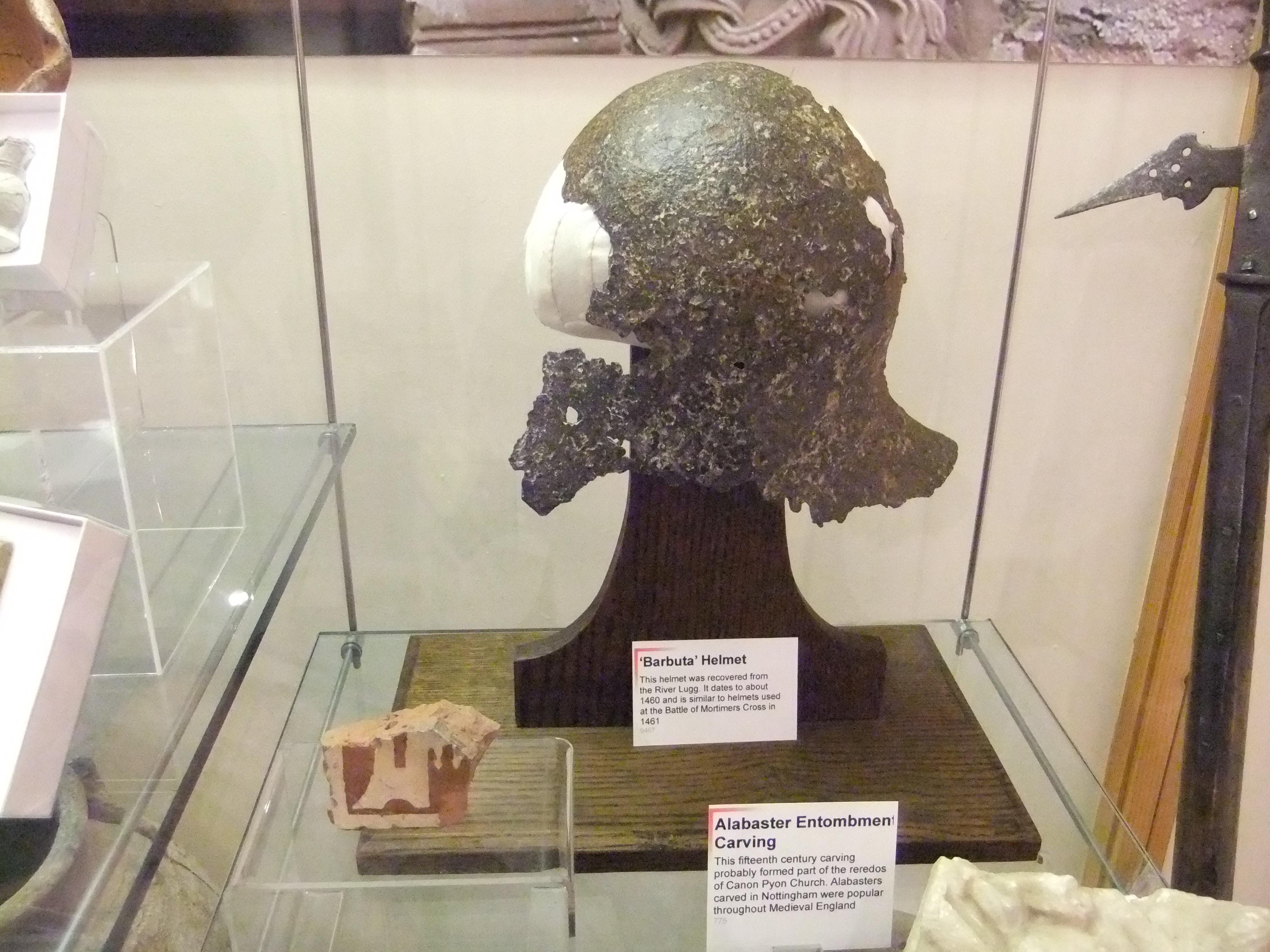 File:'Barbuta' Helmet, Hereford Museum and Art Gallery
