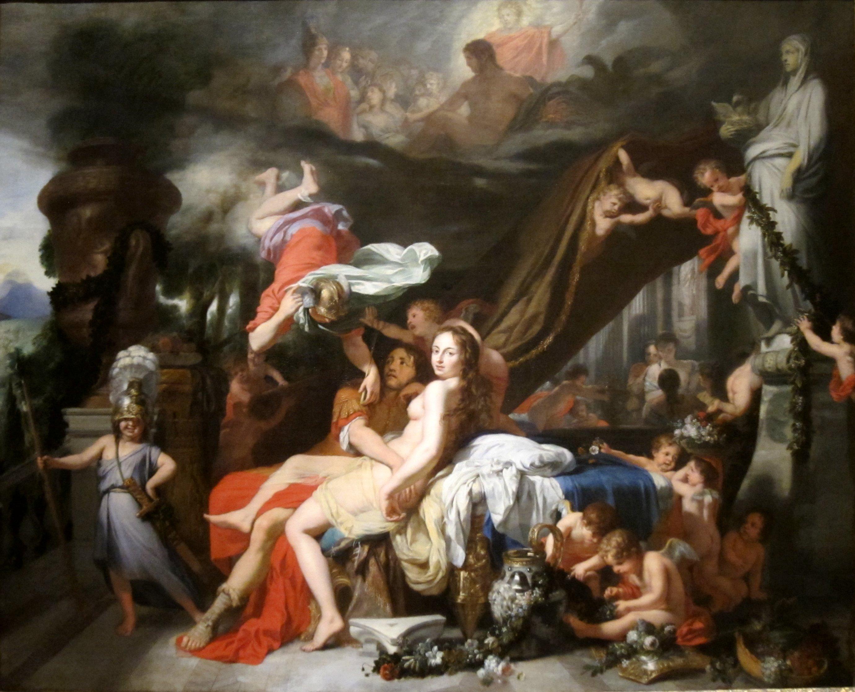 Hermes Ordering Calypso To Release Odysseus By Gerard De Lairesse Circa 1670