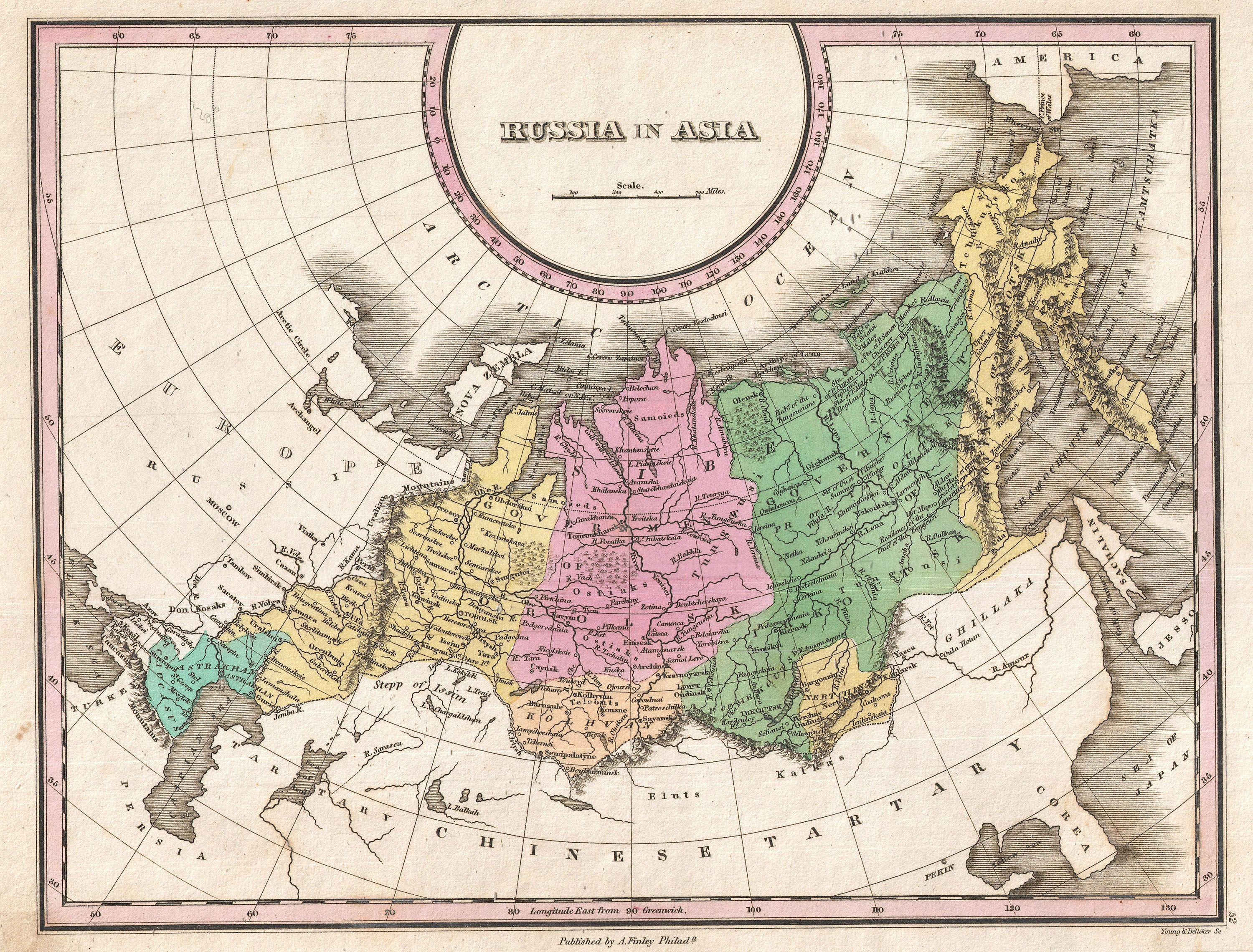 File:1827 Finley Map of Russia in Asia   Geographicus   RussiaAsia