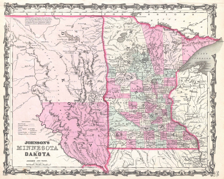 Minnesota And North Dakota Map Inspiration Web Design With Minnesota ...