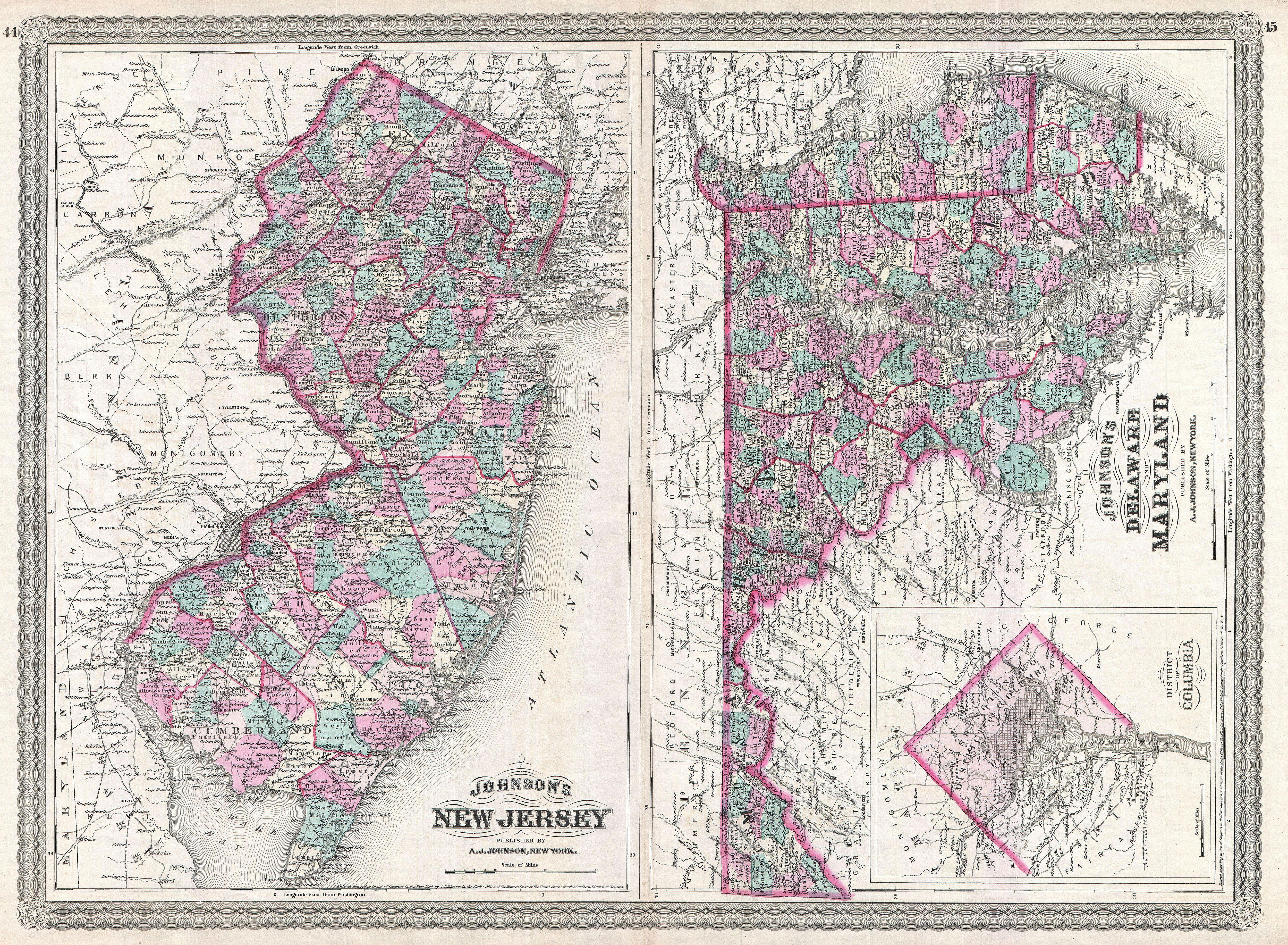 File 1870 johnson map of new jersey maryland and delaware for Johnson s farm nj