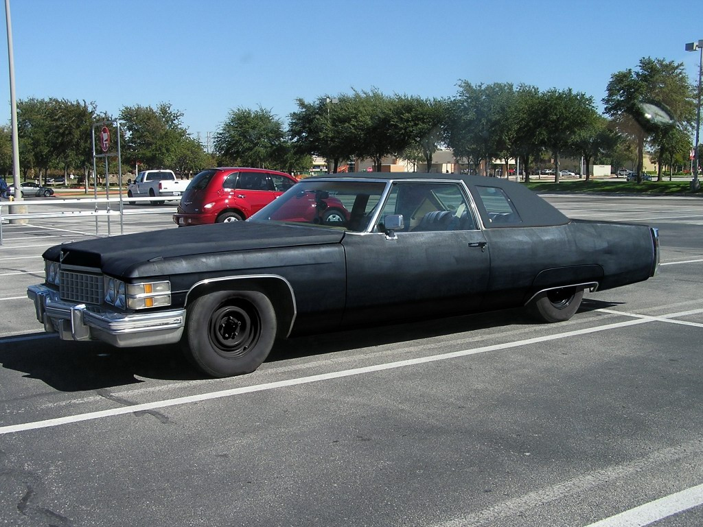 File 1974 Murdered Out Cadillac Coupe Deville Flickr