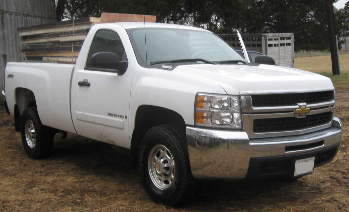 file 2008 chevrolet silverado 2500 lt regular wikimedia commons. Black Bedroom Furniture Sets. Home Design Ideas