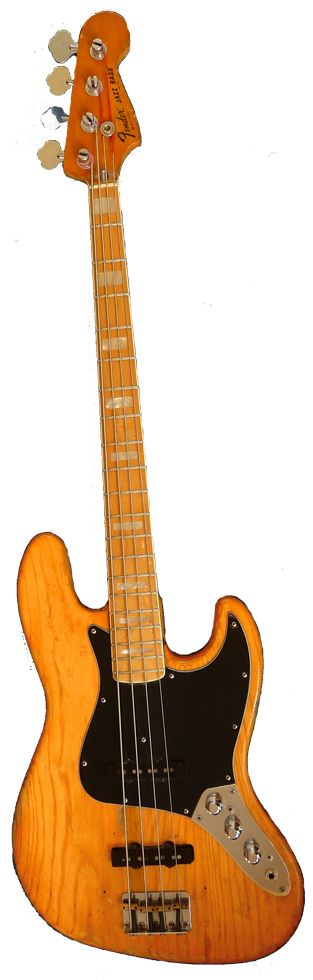1970s Fender Jazz Bass with maple fretboard 70's Fender Jazz Bass.jpg