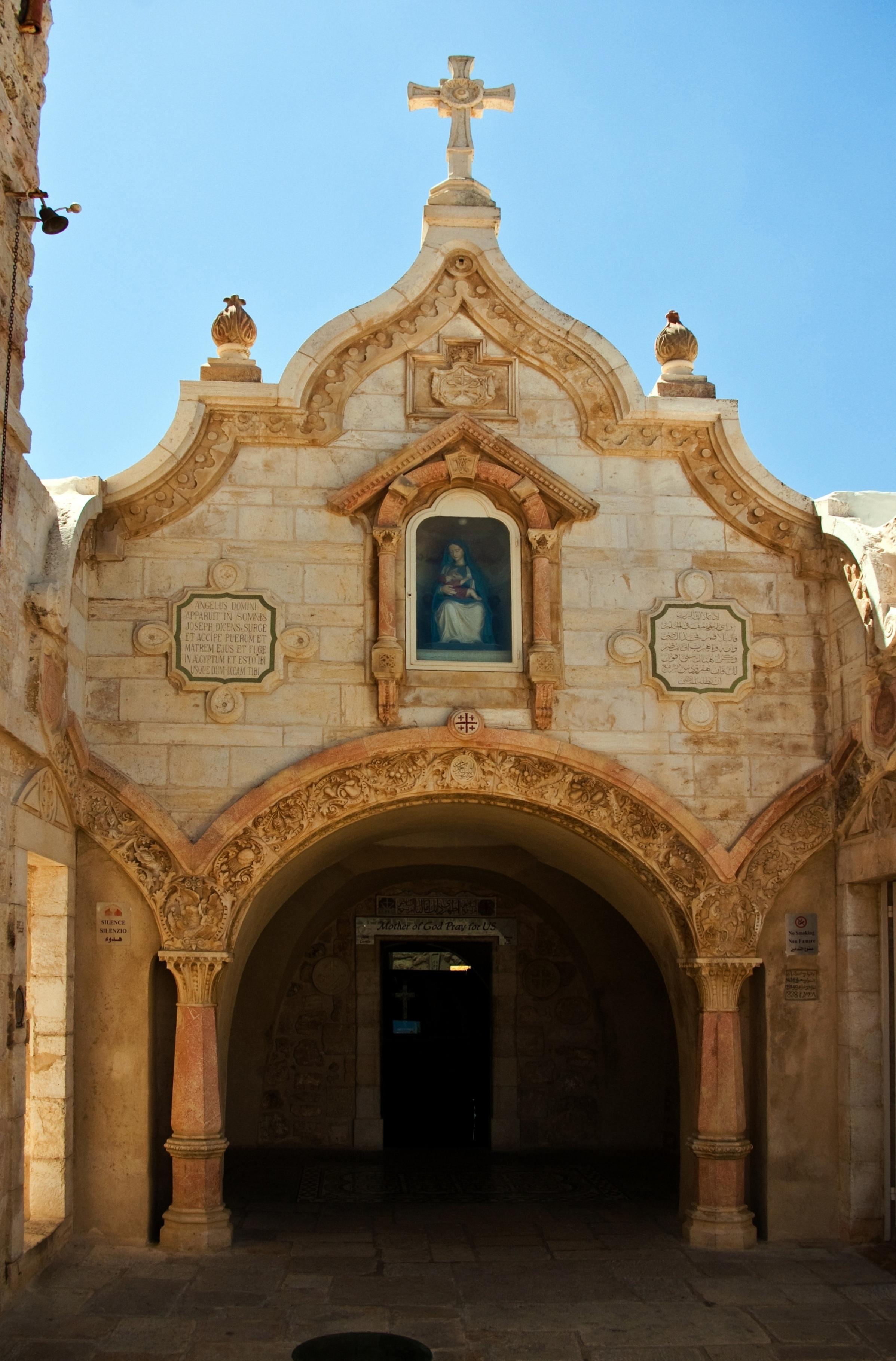 Grota Mleczna - miejsce postoju Świętej Rodziny podczas ucieczki do Egiptu