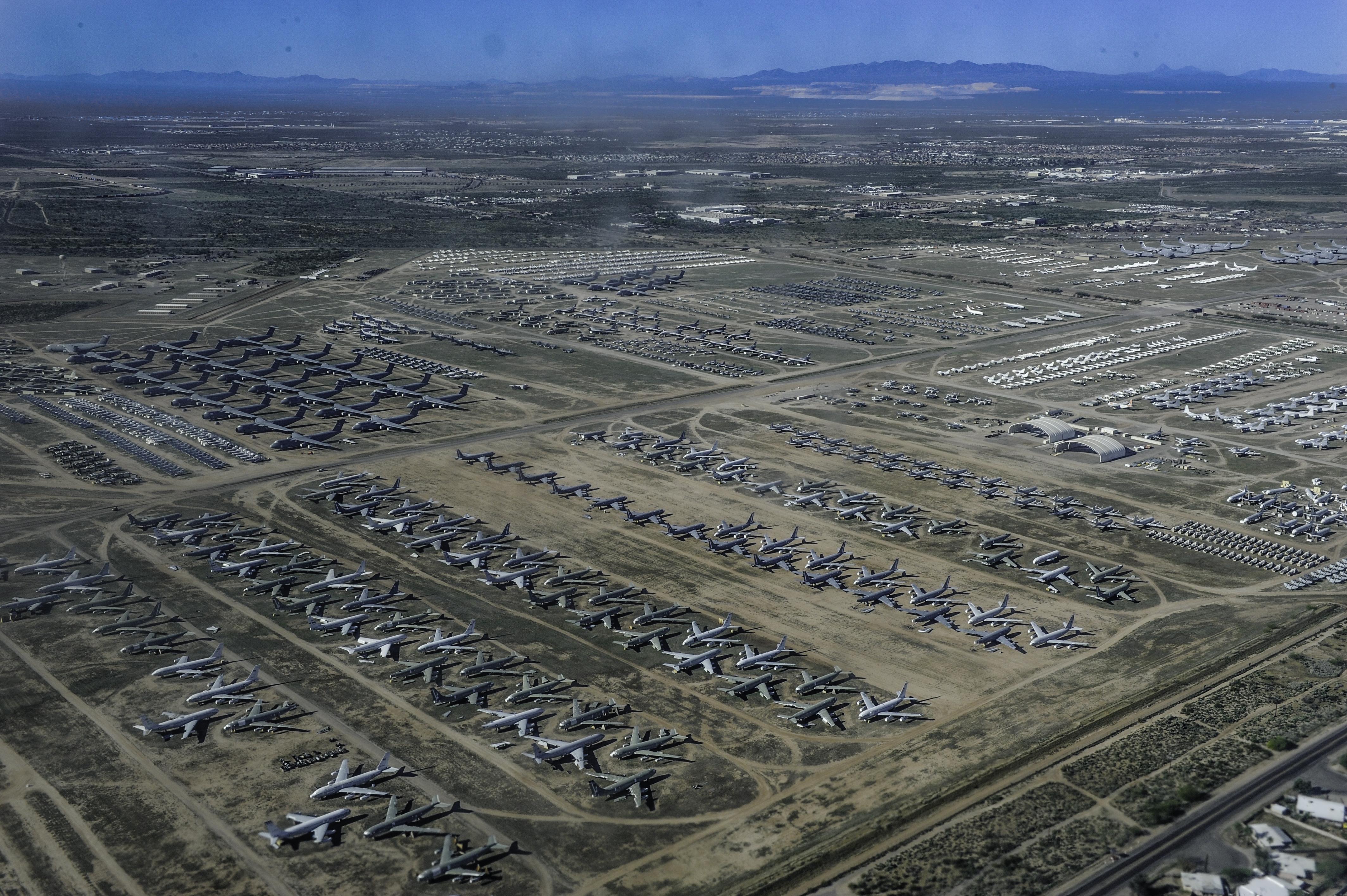 Davis Monthan Air Force Base, USA, Sky view, Aerial views