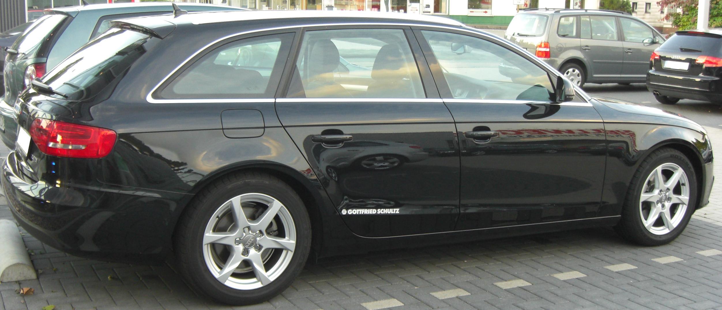 File Audi A4 Avant B8 2008 Rear Jpg Wikimedia Commons