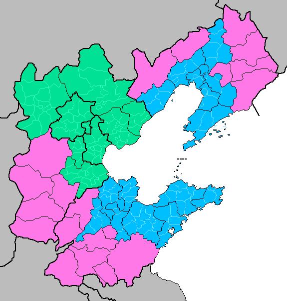 Map of Jingjinji in Green