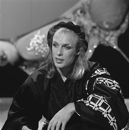 Brian Eno, inventor of Oblique Strategies, before he adopted the black turtleneck