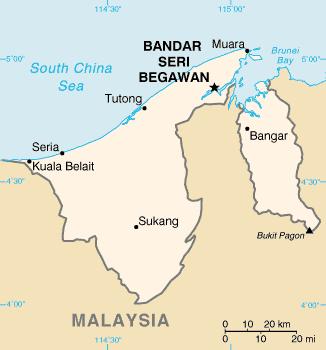 Brunei - Mappa