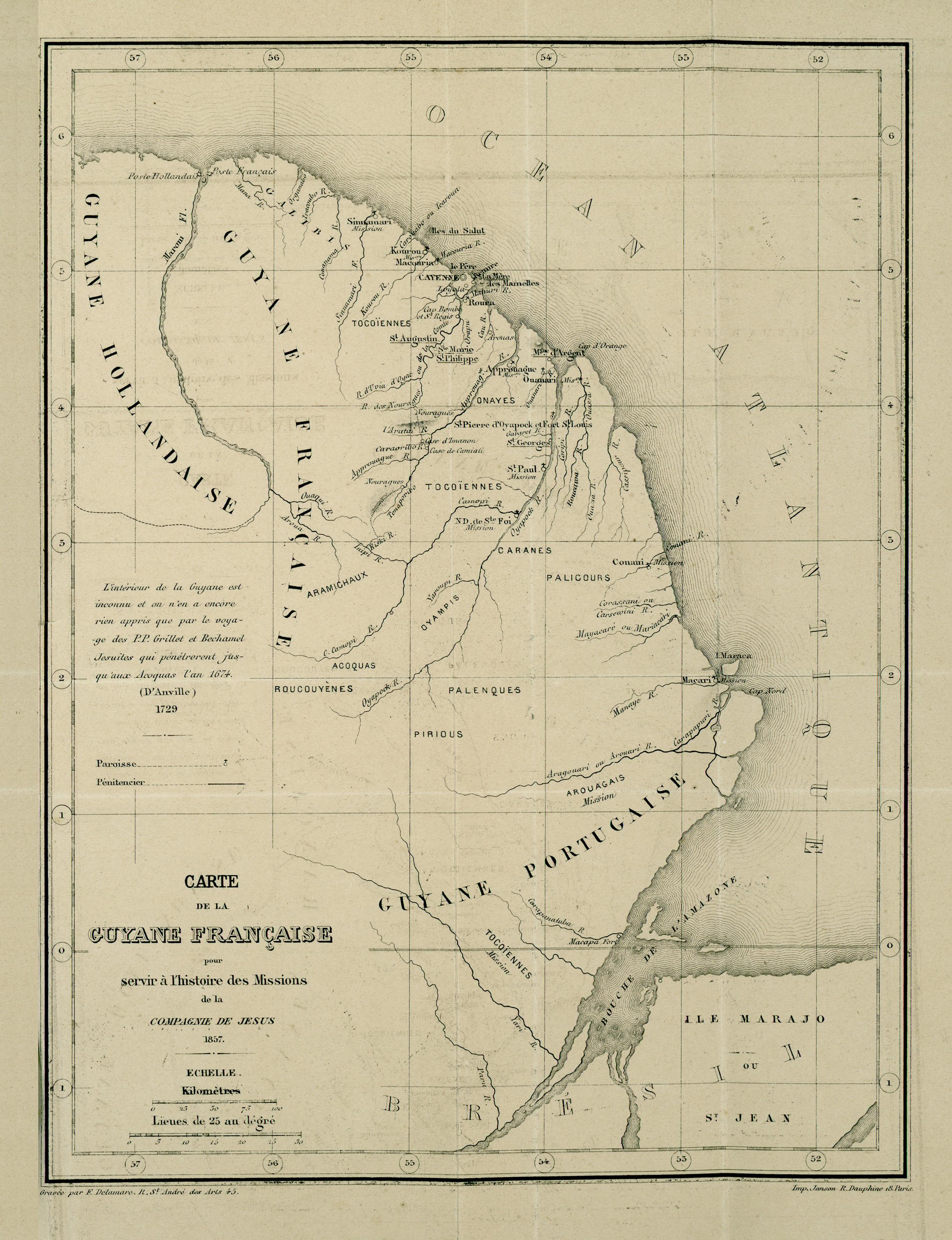 carte de la guyane française File:Carte de la Guyane française pour servir à l'histoire des