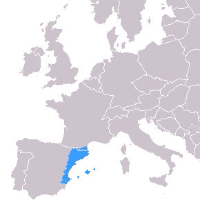 Catalan speaking area