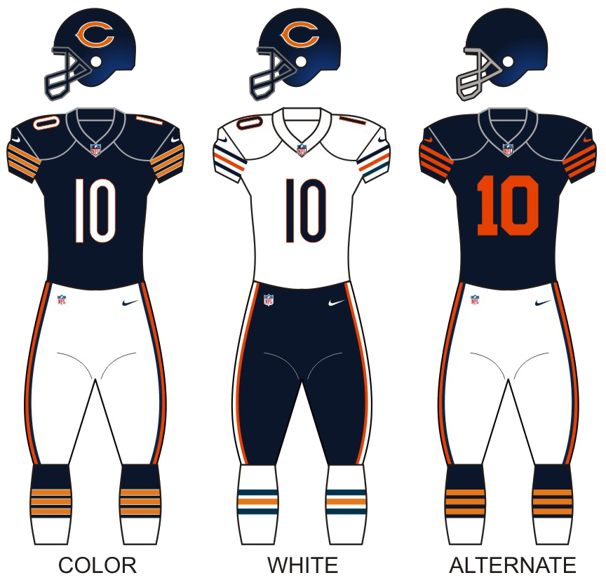 chicago bears jersey schedule