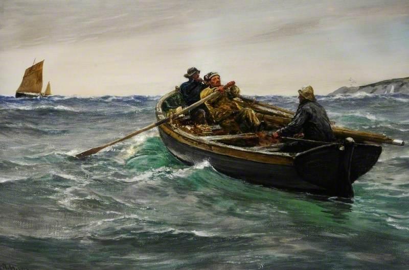 Omaž ribolovcu i ribolovu - Page 6 Charles_Napier_Hemy_-_A_Pull_to_Windward,_Falmouth,_Cornwall