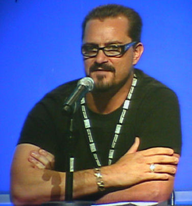 Chris Metzen, along with James Phinney, led the design of StarCraft and created the series' fictional universe. Chris Metzen.jpg