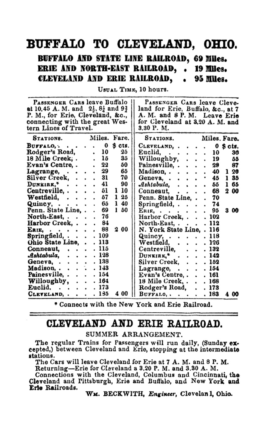 Cleveland, Painesville and Ashtabula Railroad (1848–1869