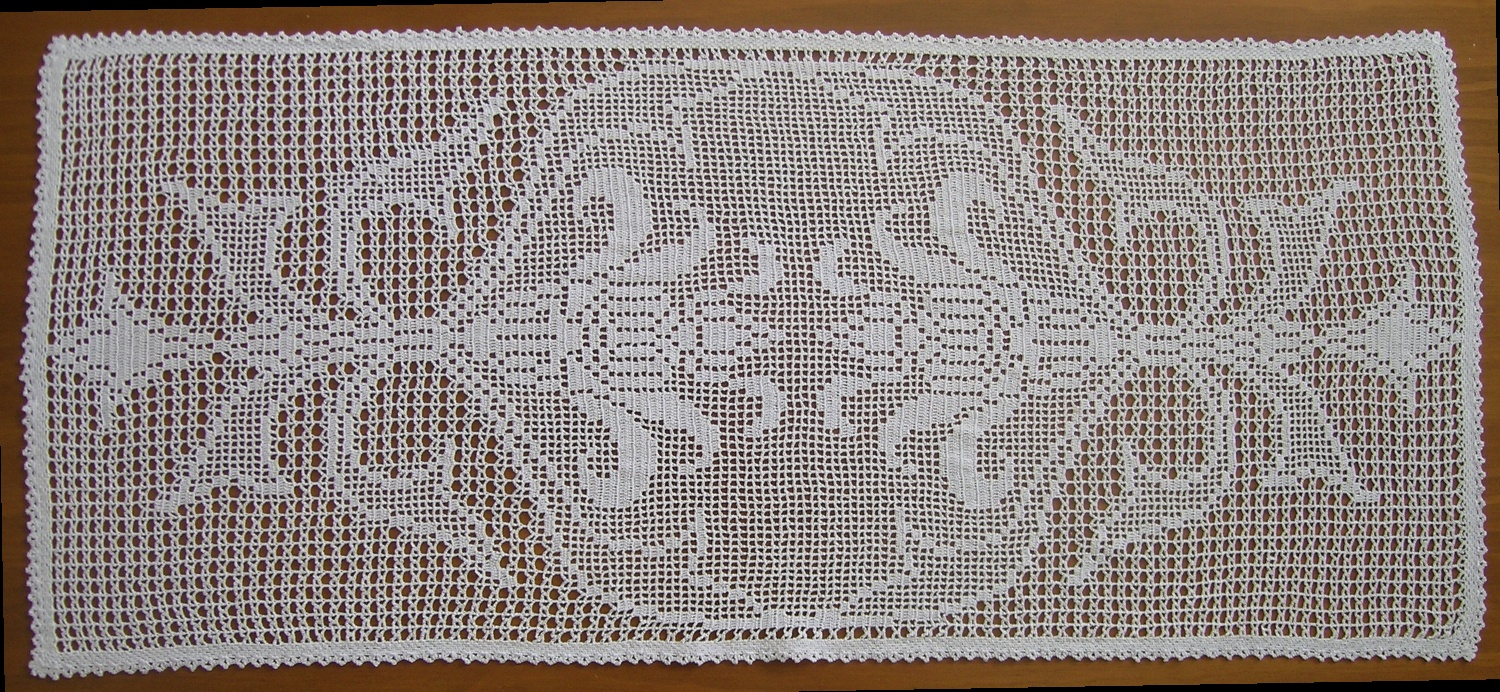free filet crochet table runners patterns