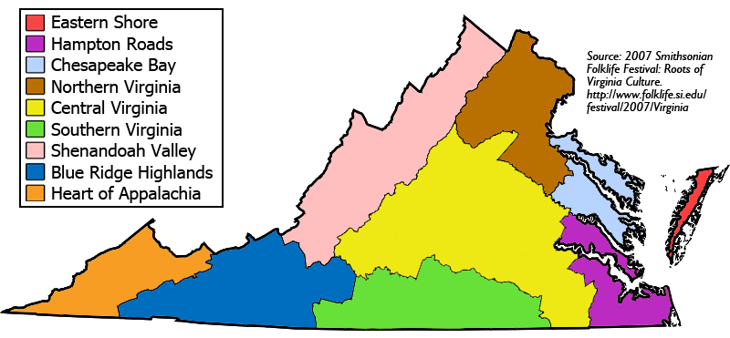 Geographic Regions Of Virginia Map.Culture Of Virginia Wikipedia