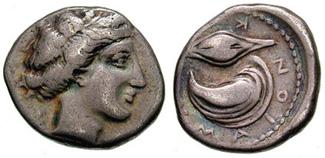 Campania, Cumae. Circa 420-385 BC. AR Nomos (7.26 gm).