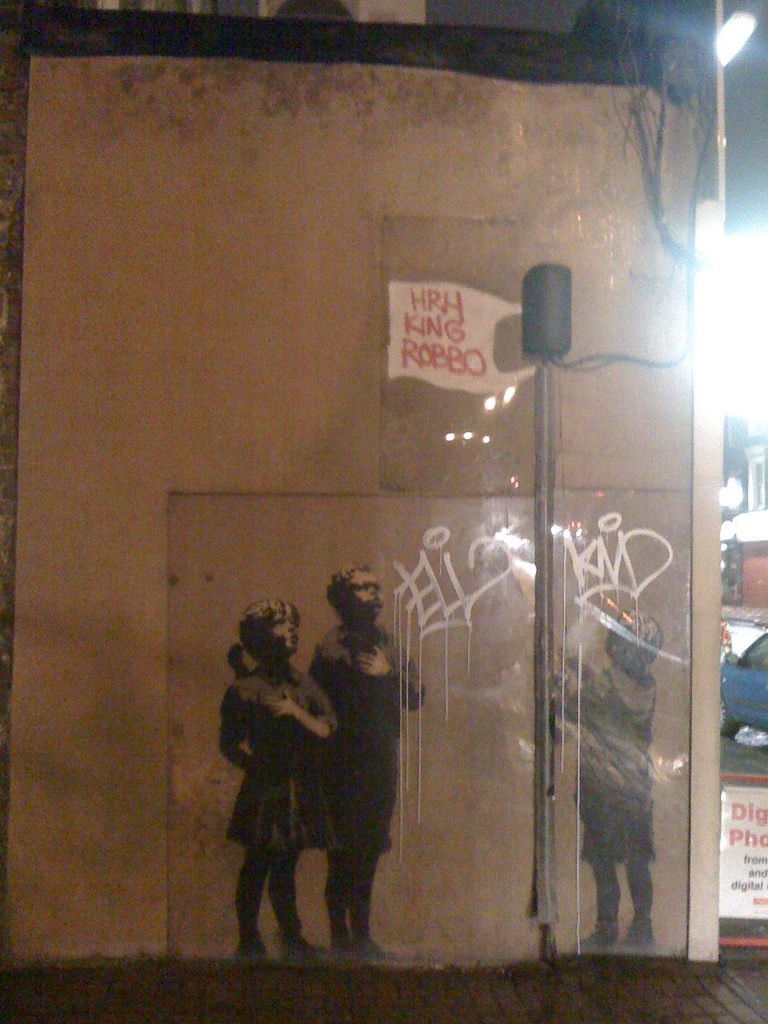 File:Defaced Banksy by King Robbo jpg - Wikimedia Commons