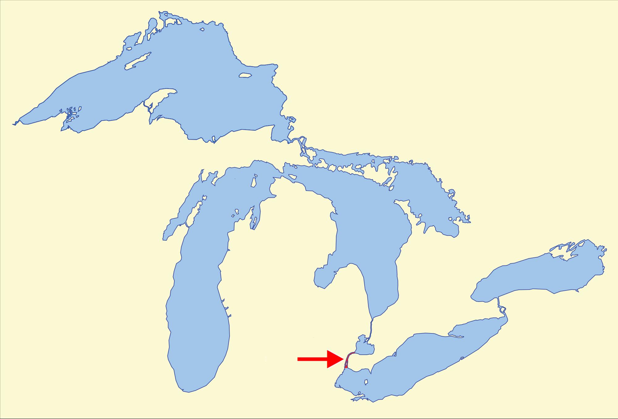 Detroit River Map Swimnovacom - Detroit on us map