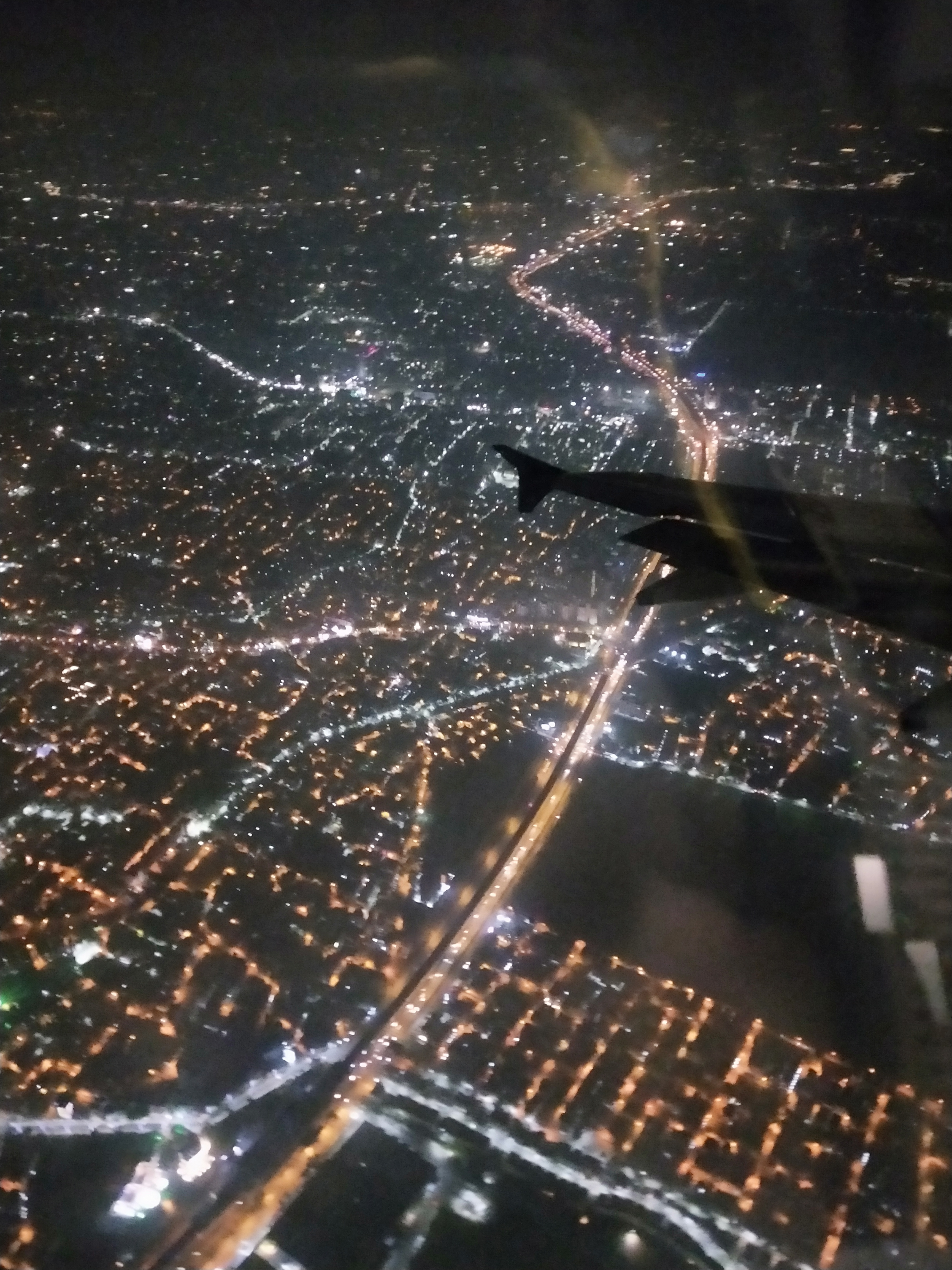 File Dumdum Outside View From Airplane Window At Night Jpg