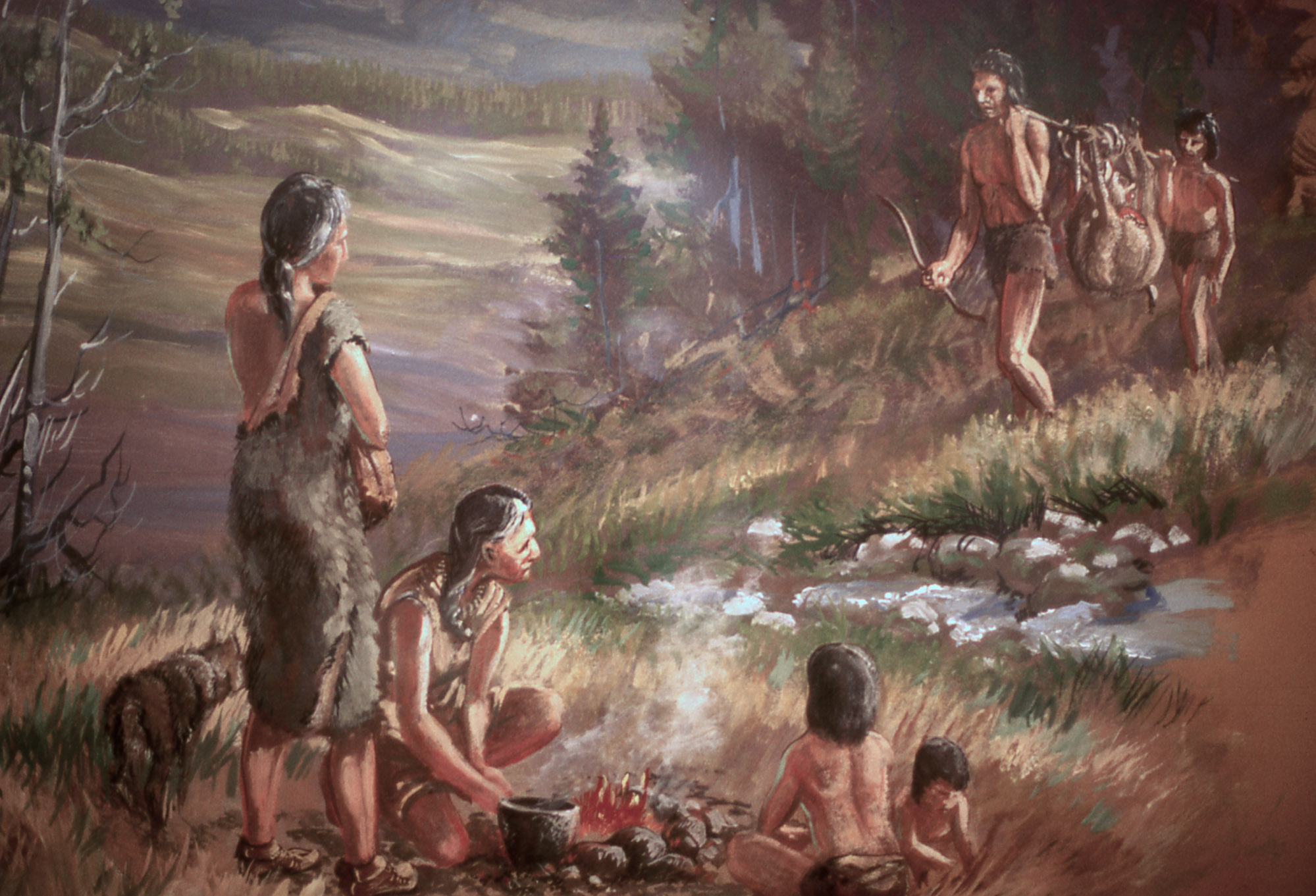 How did Stone Age hunter-gatherers live?