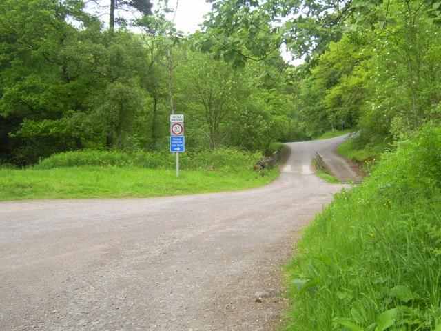 Entrance to Blackling Hole car park,Hamsterley Forest - geograph.org.uk - 838272