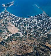 aerial view of Eretria