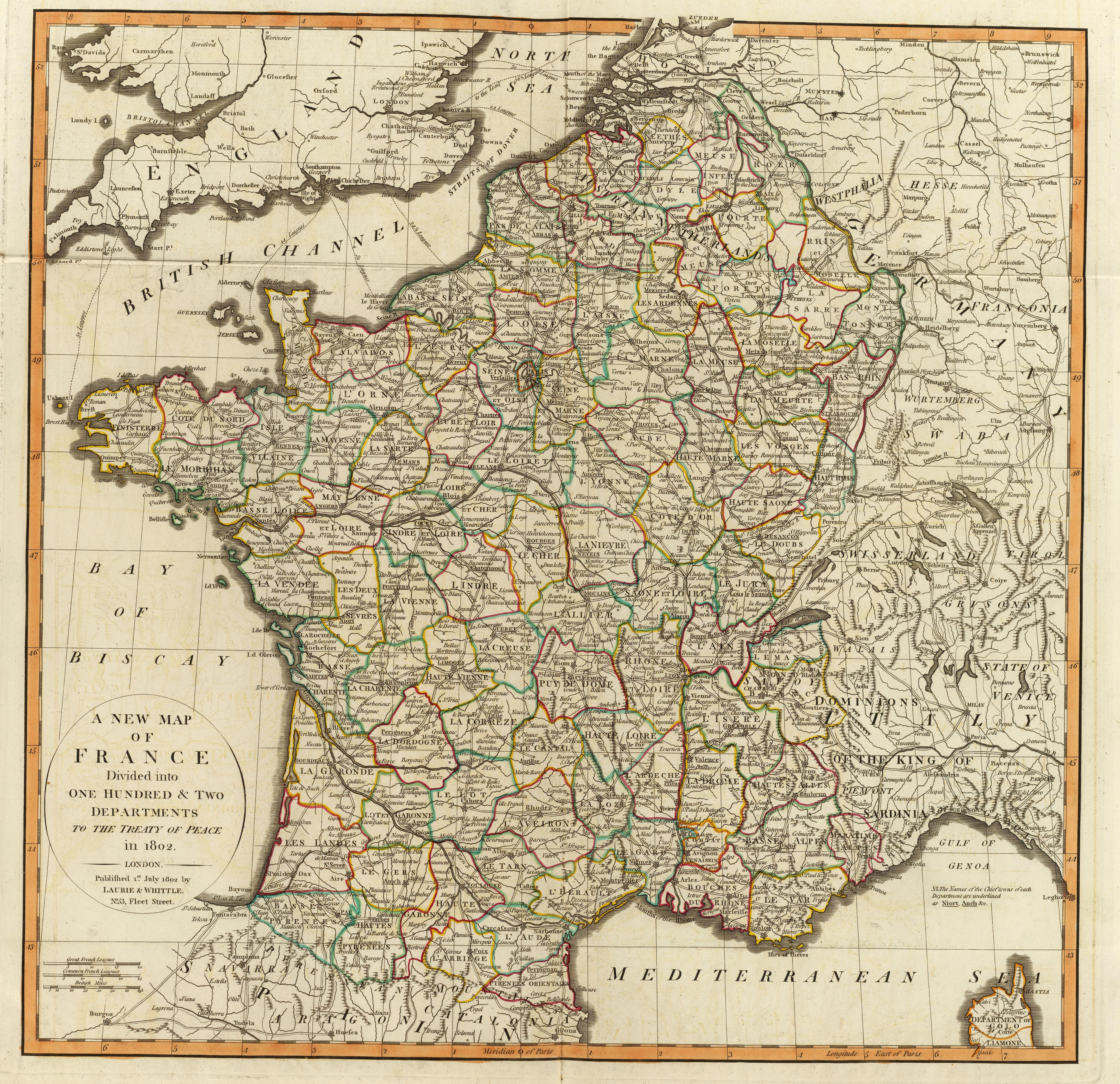 Street Map Of Quillan France.File France 1802 102 Departments Jpg Wikimedia Commons