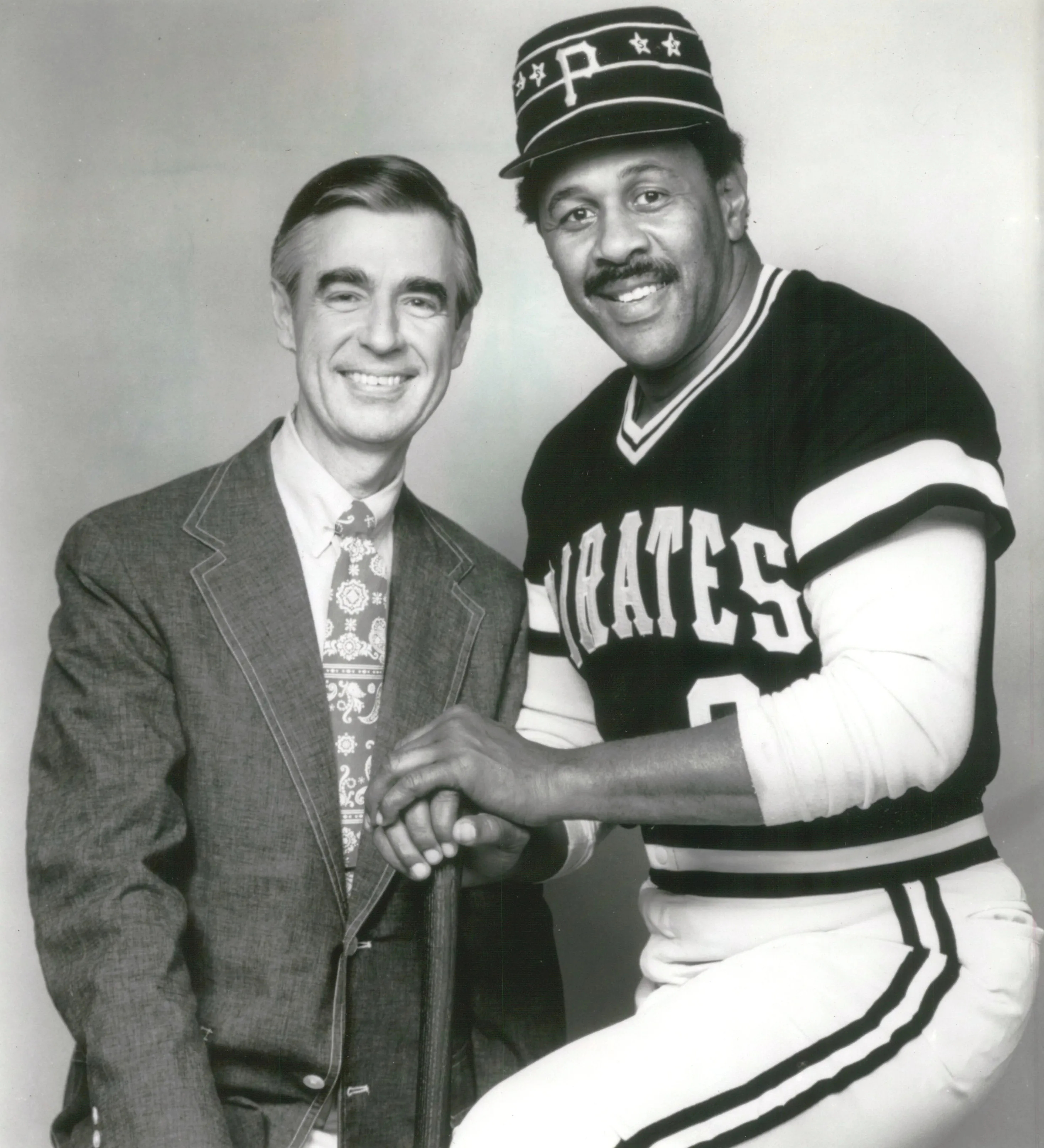 File Fred Rogers And Willie Stargell Jpg Wikimedia Commons