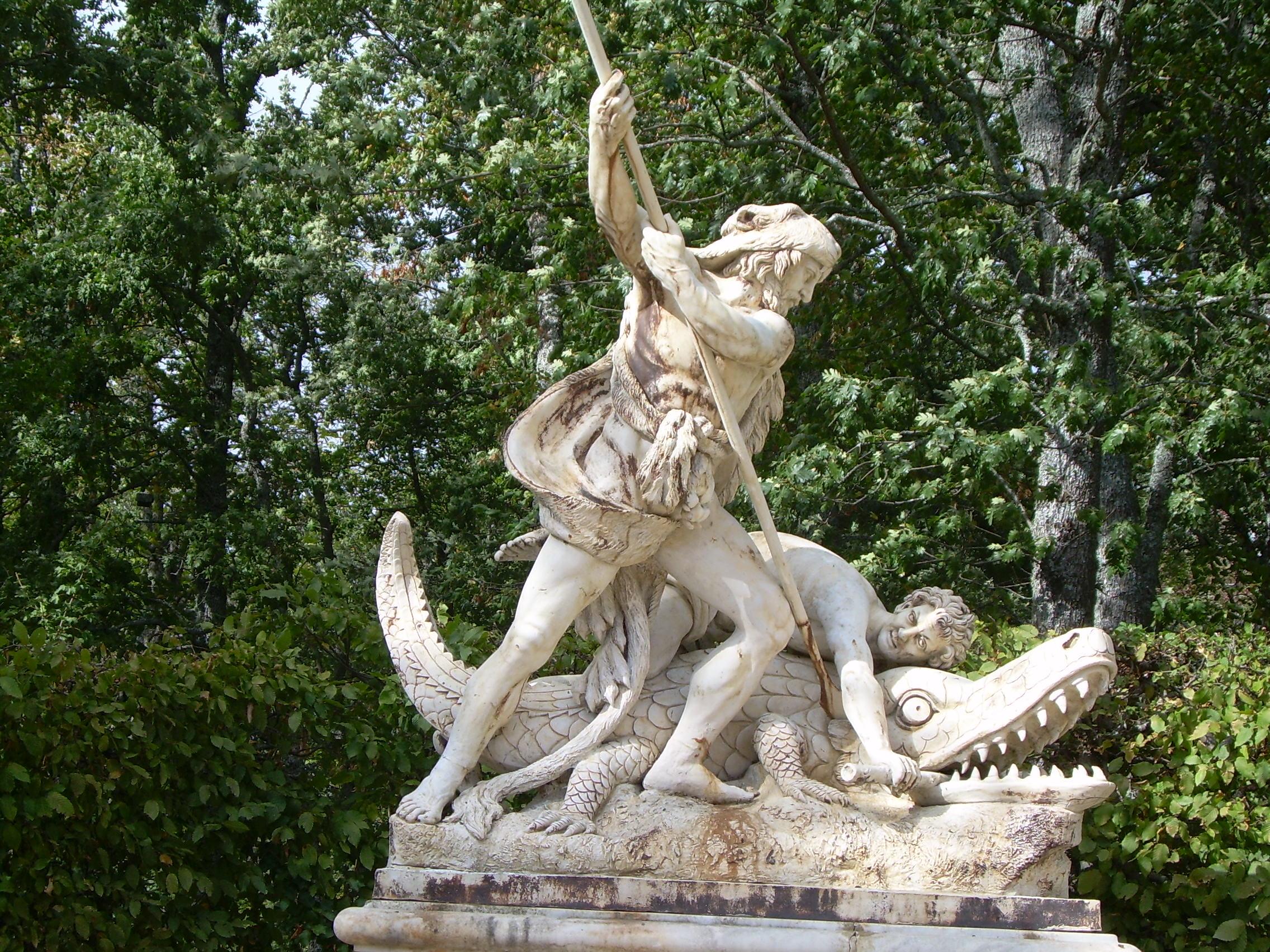 File fuente en los jardines del palacio de la granja de for Jardines de san ildefonso