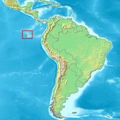 Galapagosöarna ligger väster om Equador.