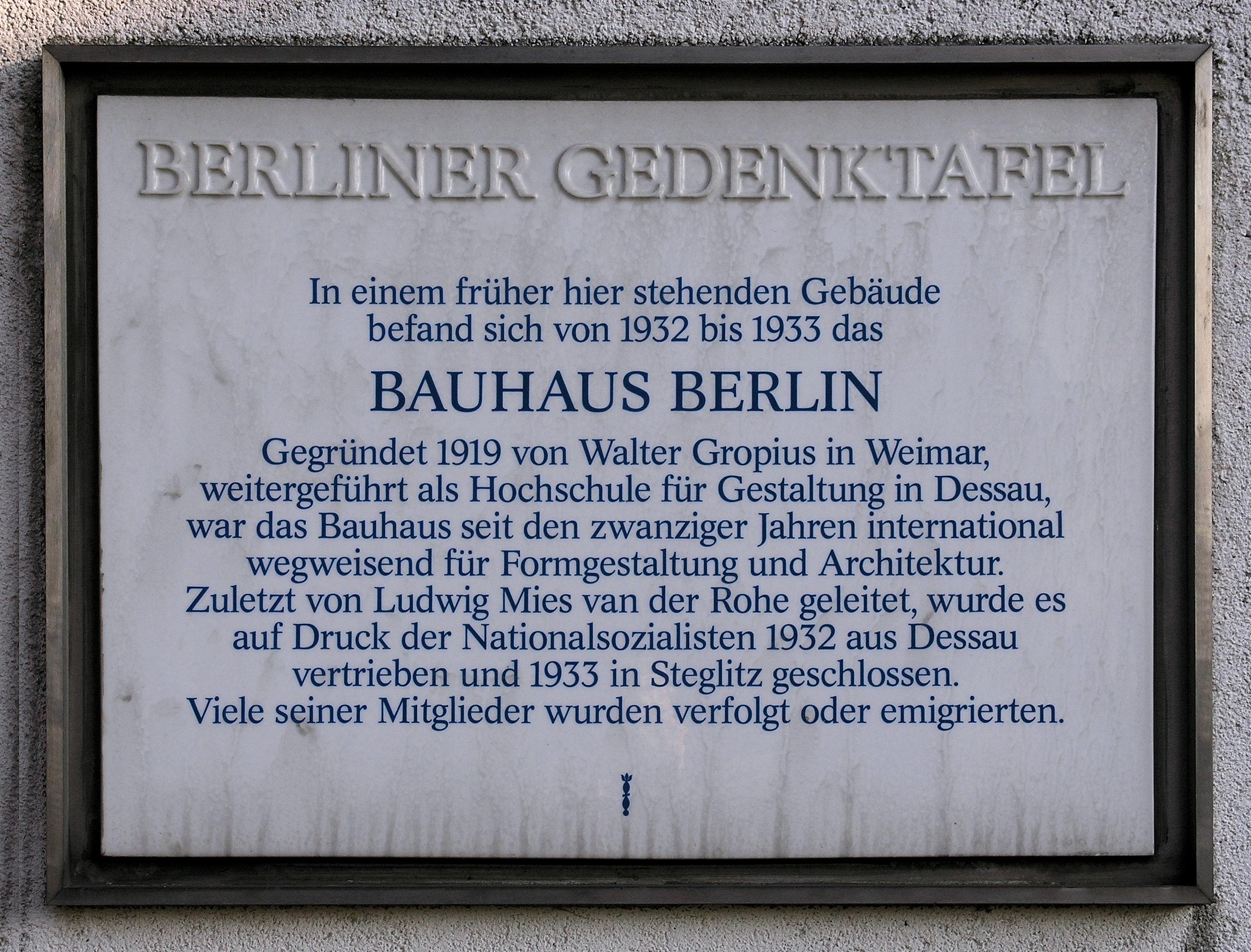 Bauhaus Stiel bauhaus