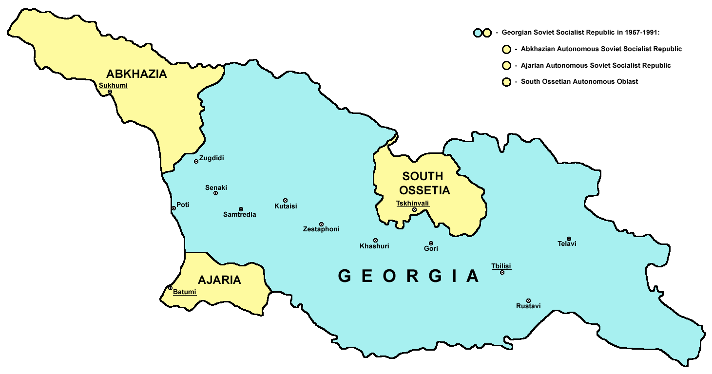 Map Republic Of Georgia.File Georgian Soviet Republic1957 1991 Png Wikimedia Commons