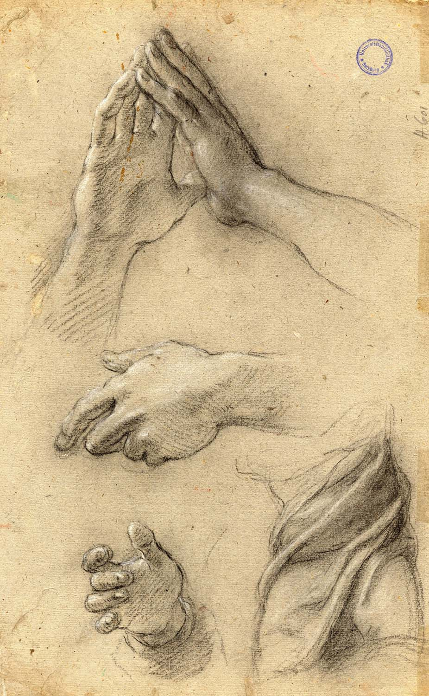 Da Vinci Hands Painting