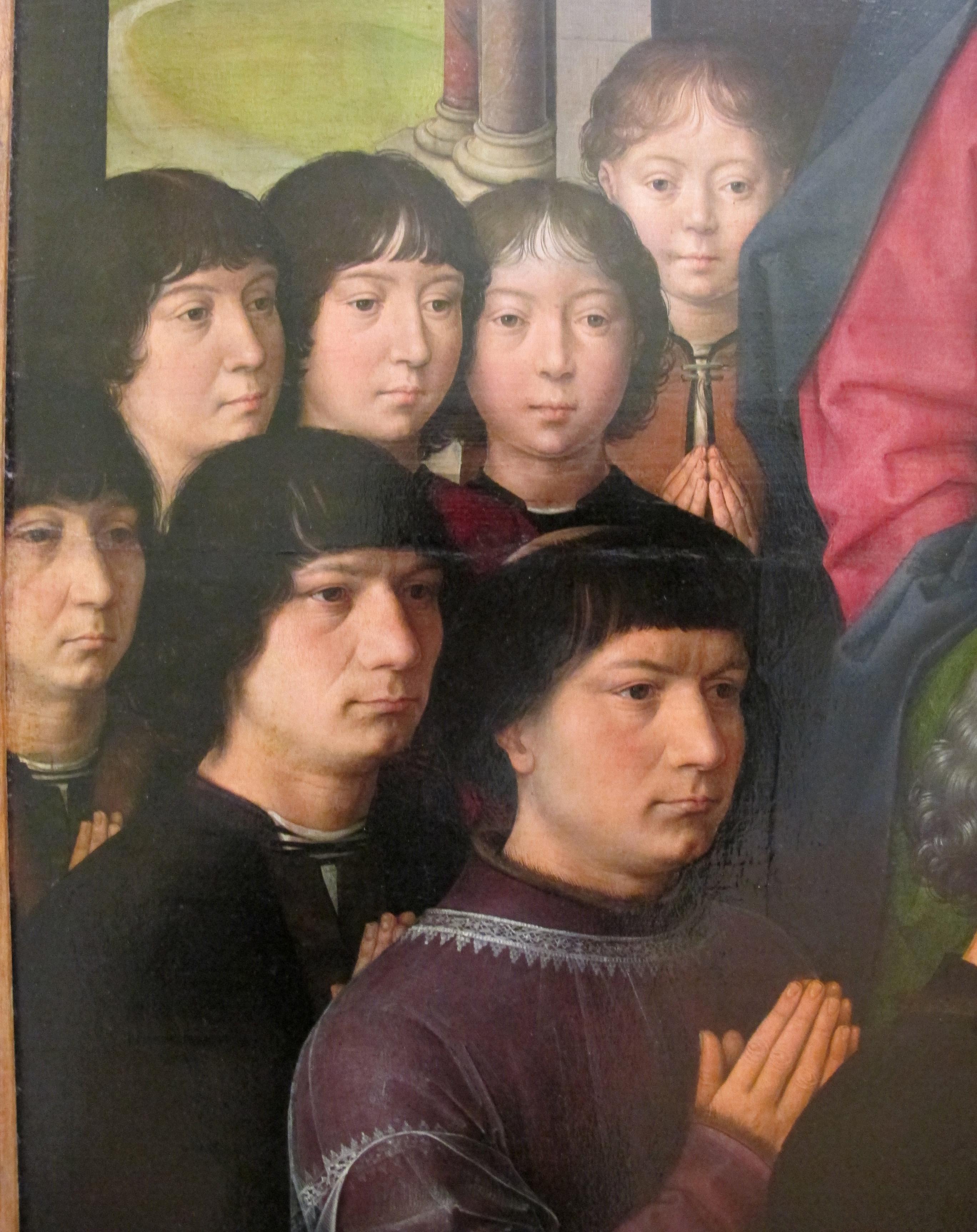hans memling, madonna col bambino tra i santi giacomo e domenico, 1488 ca. 03.jpg