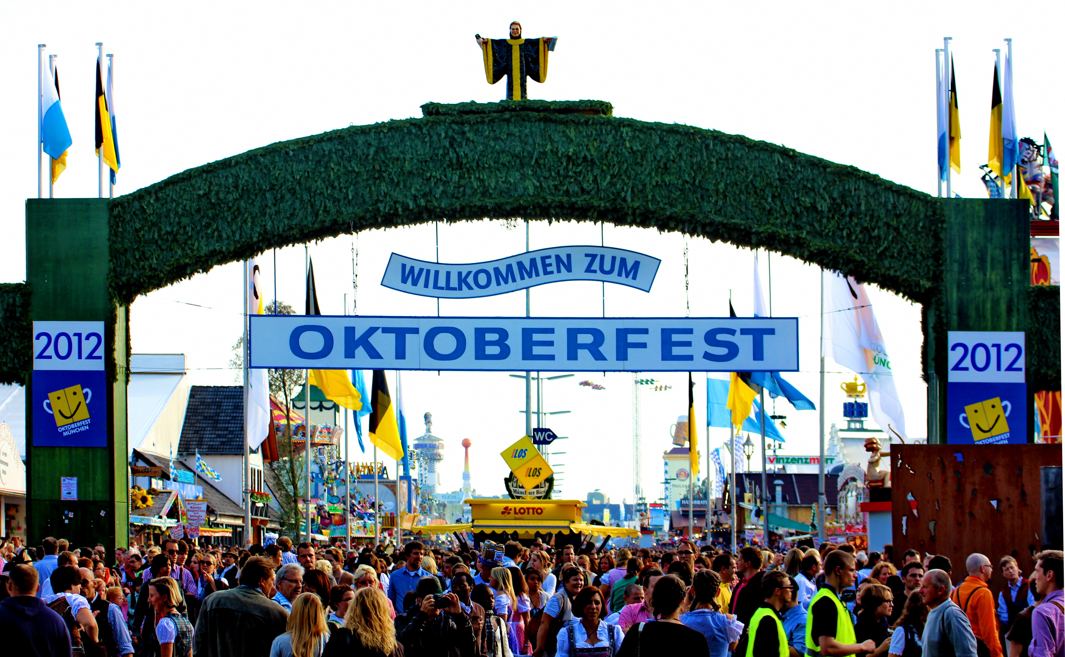 Image of entrance to Oktoberfest