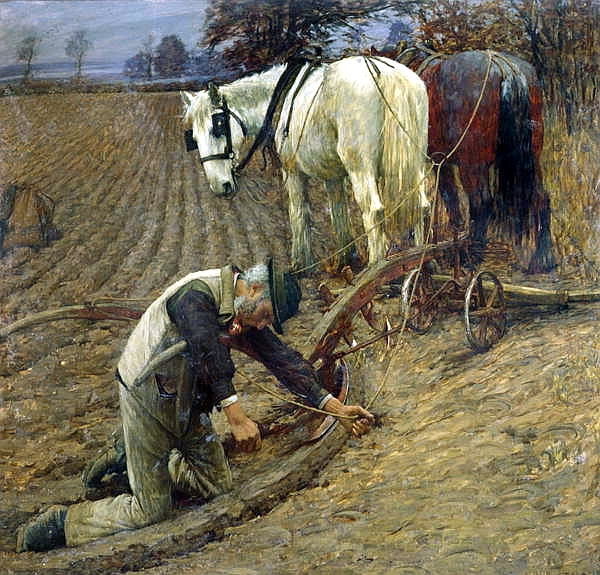 Henry Herbert La Thangue - The Last Furrow 1895