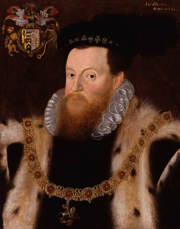 Sir Henry Sidney, oil on panel, 26 5/8 in. x 2...