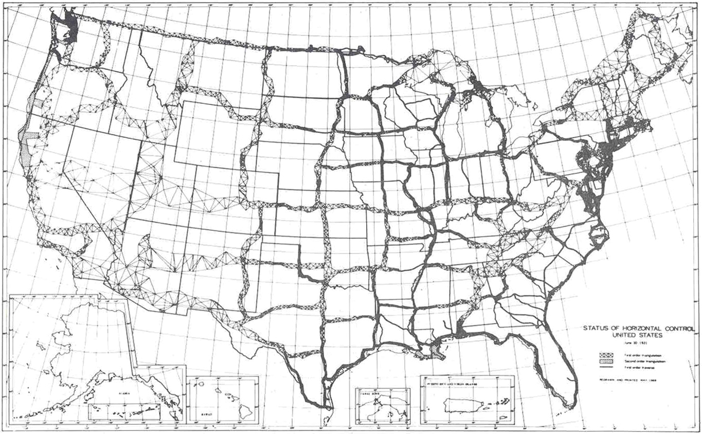 File Horizontal Control Network Of The United States June 1931 Jpg