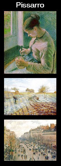 Paintings by Pissarro
