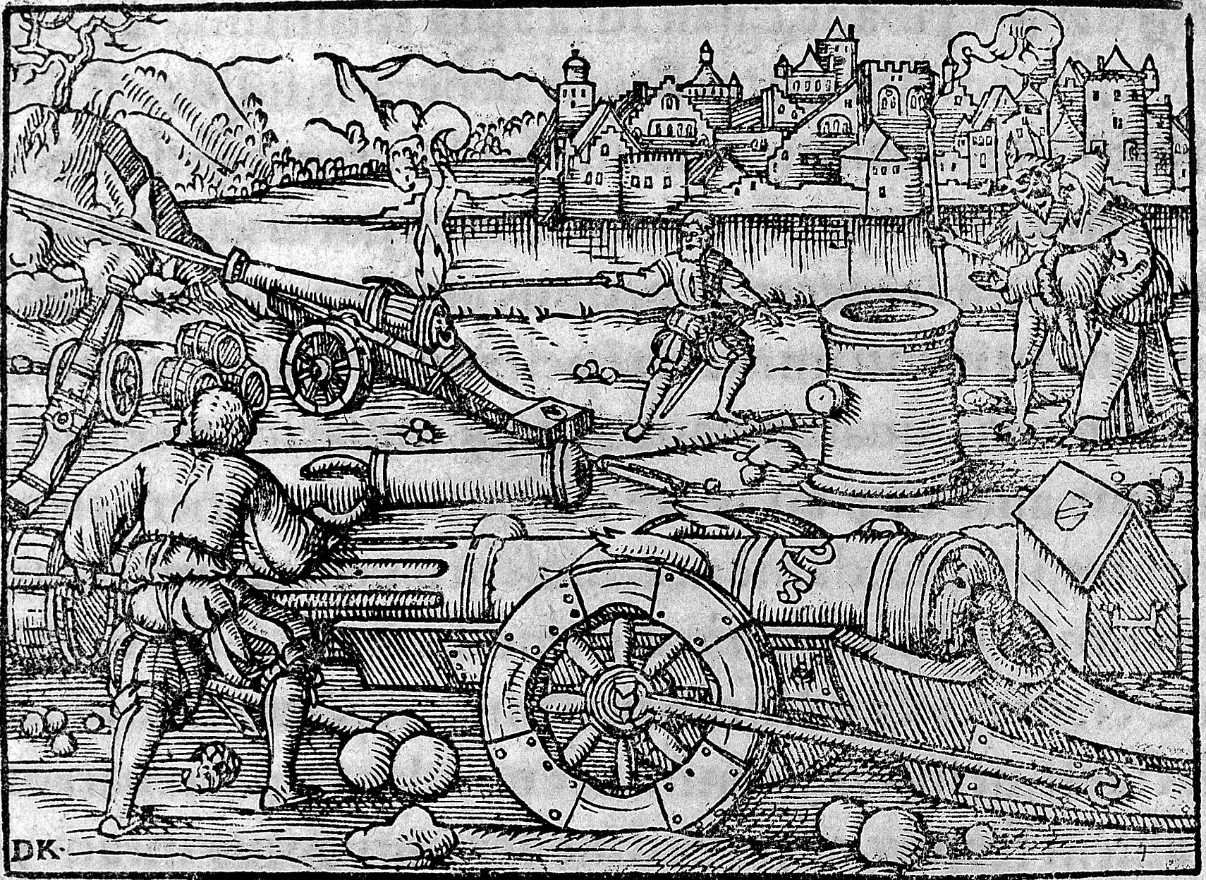 File:Invention of artillery by a German monk, 1378. Wellcome L0005343.jpg