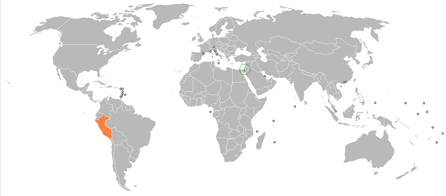 Israel On A Map Of The World Art Galleries In With Israel On A Map ...